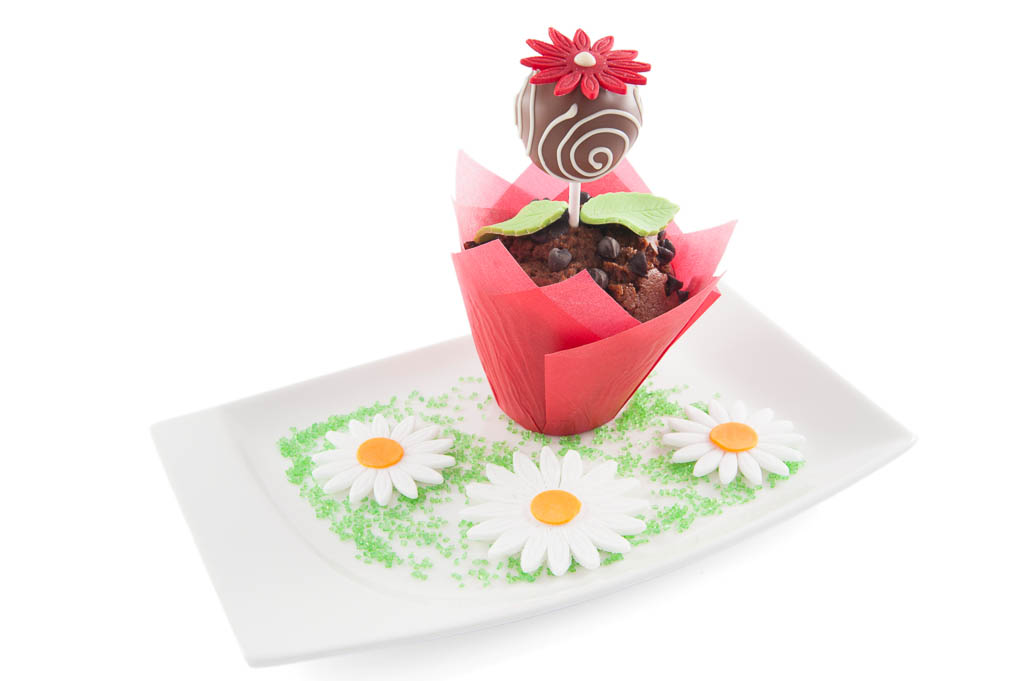 muffin with flower